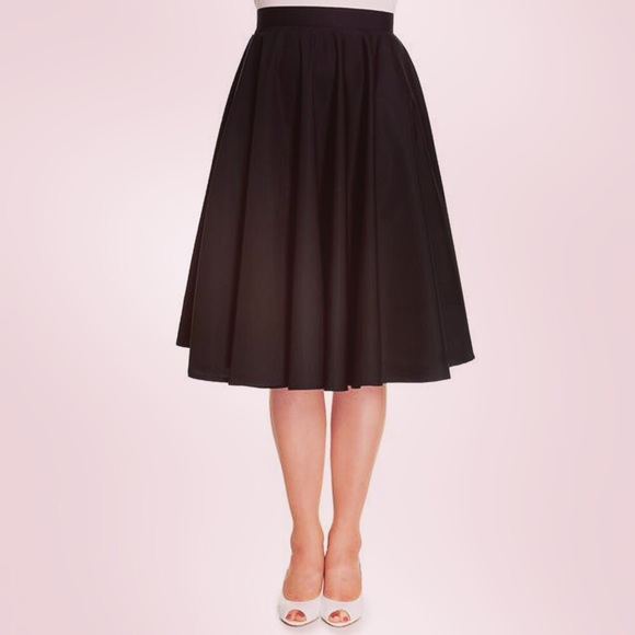 982cf20237 Hell Bunny Skirts   Sold 1950s Black Paula Swing Skirt   Poshmark